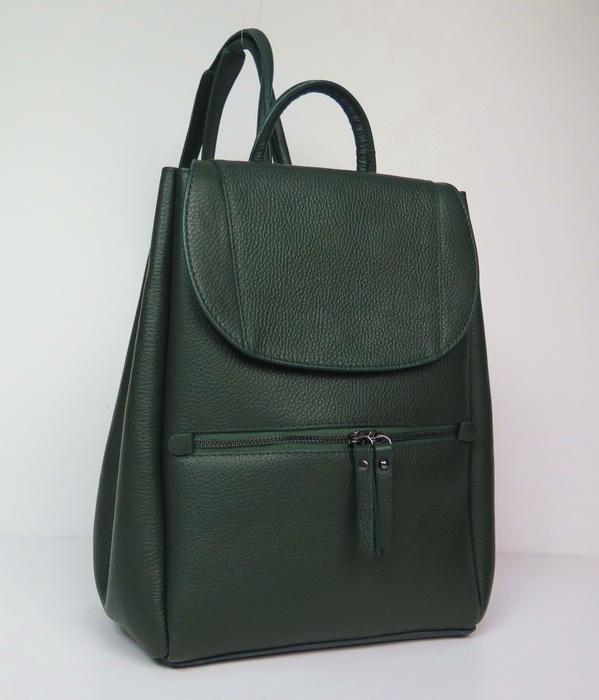eb49d4263a2d Купить итальянскую кожаную сумку Vera Pelle темно-зеленого цвета